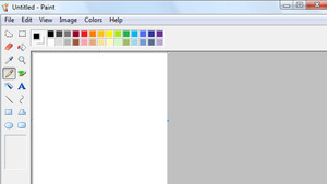 Aspecto del programa Paint, de Microsoft