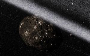 Una impresión artística de los anillos que rodean el asteroide Chariklo.
