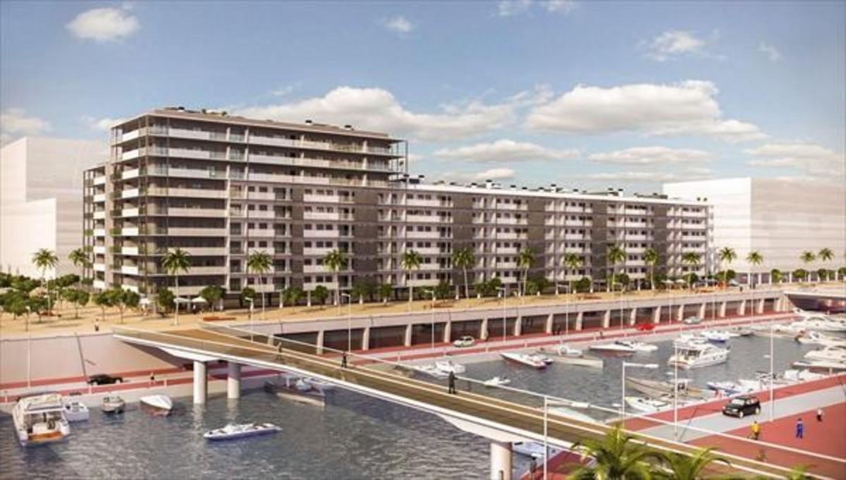 Imagen virtual de una promoción inmobiliaria de Neinor eb Badalona.
