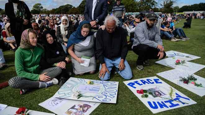 Christchurch recuerda en silencio a las víctimas del ataque contra las mezquitas.