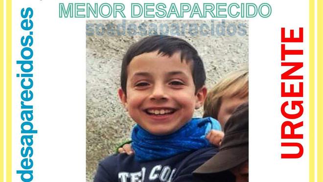 Gabriel Cruz té 8 anys i va desaparèixer ahir aNíjar quan anava a jugar amb els seus cosins