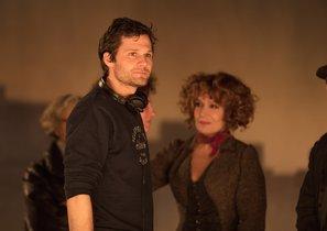 El actor y director Alexis Michalik, durante el rodaje del filme.