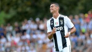 Cristiano Ronaldo, en el centro de entrenamiento de Turín.