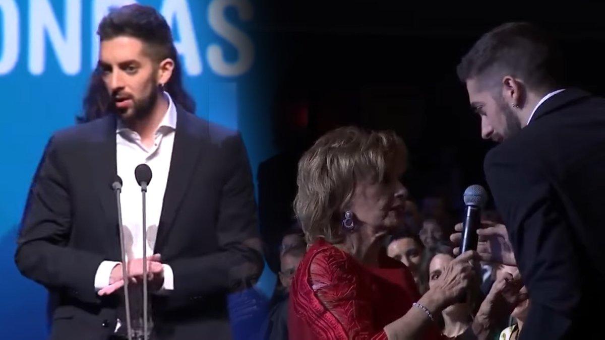Broncano recoge el Ondas a 'La resistencia' y se lo dedica a María Teresa Campos