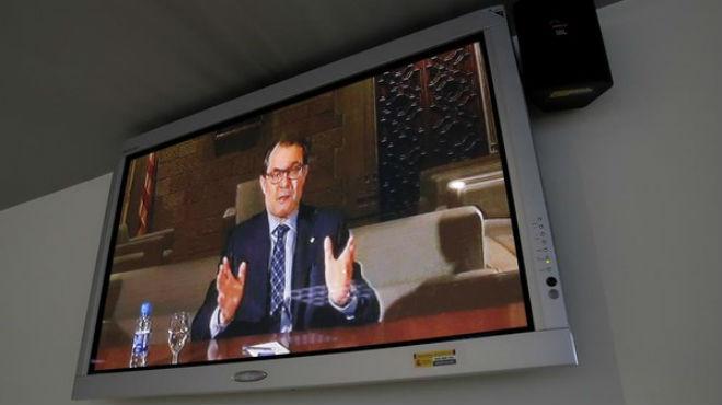 La declaración de Mas por videoconferencia sobre el asedio al Parlament