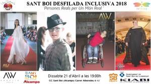 Desfilada inclusiva de moda en Sant Boi.