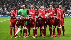El equipo del Bayern, en el último partido de Champions ante el Besiktas.
