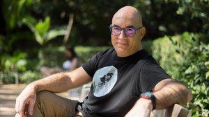 El escritor y director de València Negra, Jordi Llobregat, en Barcelona.