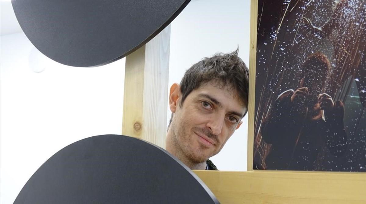 El escritor Emilio Bueso, en la Eurocon que se celebró en Barcelona.