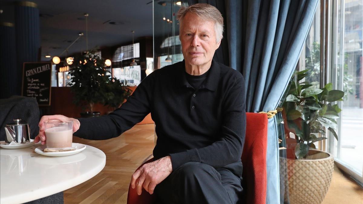 El premio Nobel J.M.G. Le Clézio en su visita a Madrid, ayer.