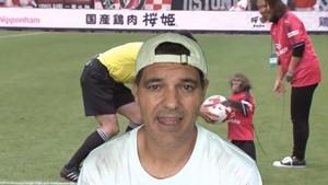 Frank Cuesta, en el vídeo que criticaEl Chiringuito por la exhibición de un mono en un partido de fútbol.