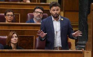 Gabriel Rufián, en la sesión de control al Gobierno.