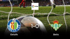 El Getafe consigue la victoria en casa ante el Real Betis (1-0)