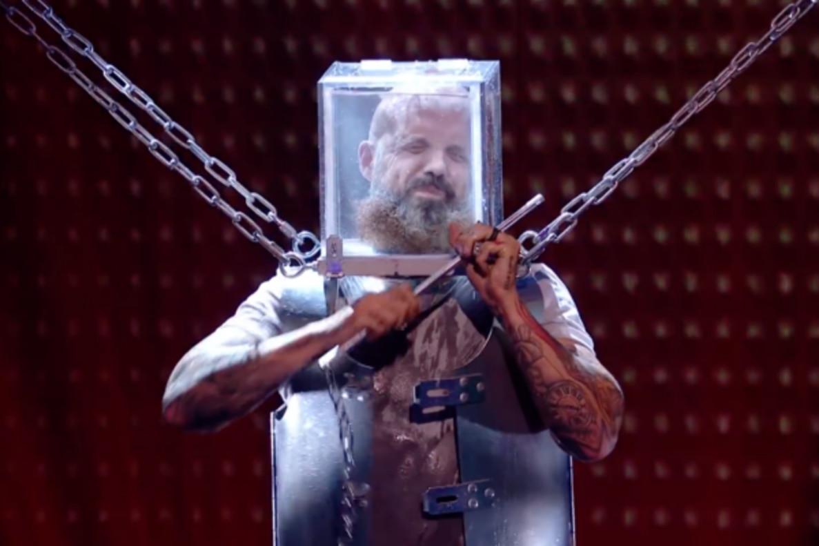 El gran susto de un ilusionista durante su actuación en la edición británica de 'Got Talent'