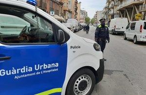 La Guardia Urbana de L'Hospitalet de Llobregat durante el estado de alarma.