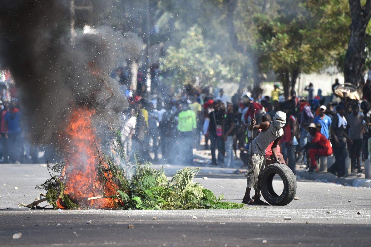 Protestas sociales en Haití en contra del gobierno de ese país.
