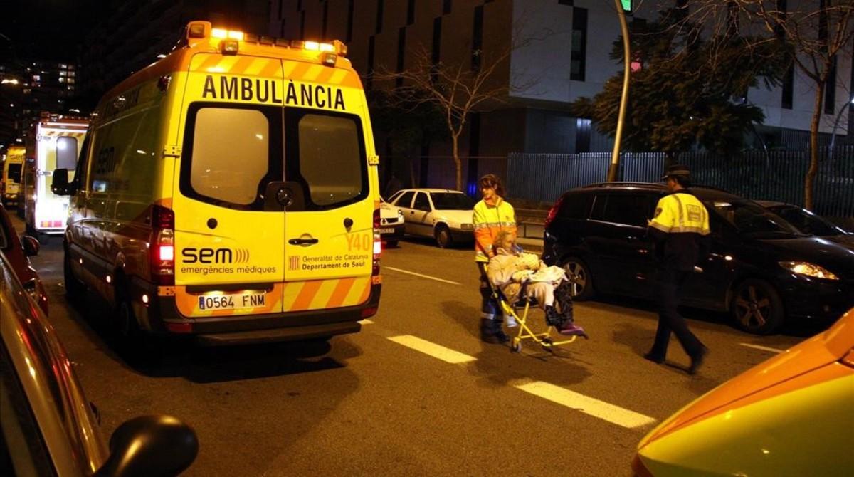 Una ambulancia del SEM en Barcelona.