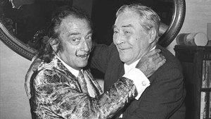 Salvador Dalí y Josep Pla.