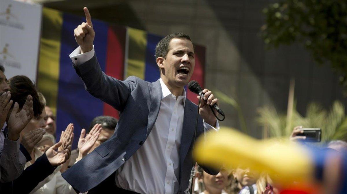 Juan Guaidóautoproclamado como presidete interino de VenezuelaAP Photo Fernando Llano