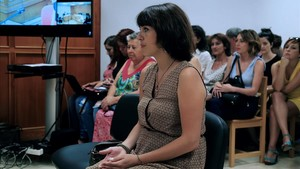 Juana Rivas, el 18 de julio, en el Juzgado de lo Penal 1 de Granada.