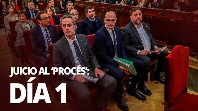 La defensa de los acusados: La autodeterminación es sinónimo de paz y no de guerra.Resumimos el primer día del juicio al procés