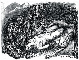 L'INFERN. David Olère va estar al Sonderkommando d'Auschwitz. Després de la guerra, els seus dibuixos, com aquests del llibre de Shlomo Venezia, van ser el seu testimoni: cambres de gas, el crematori, cadàvers, el tallat de cabells...