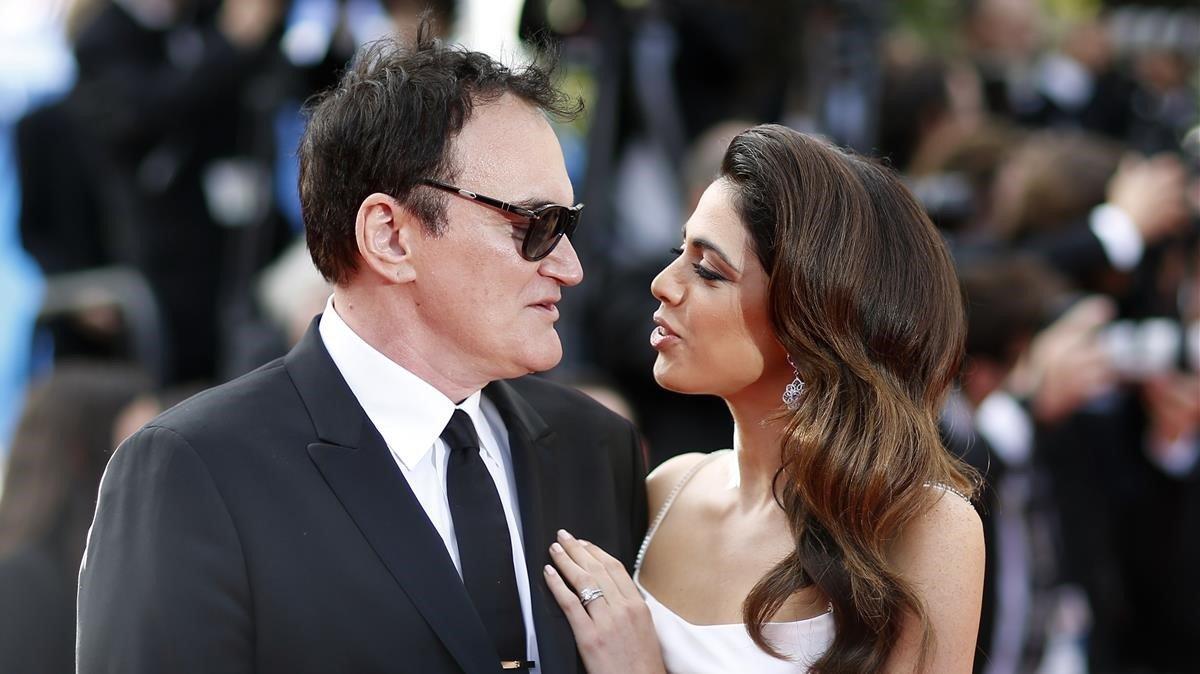 Quentin Tarantino y Daniella Pick, en el festival de Cannes, en mayo pasado.