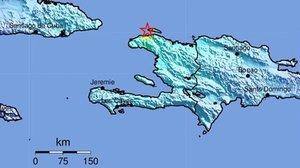 Localización del epicentro del terremoto de Haití.