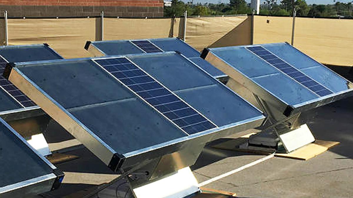Los paneles solares que generan agua potable.