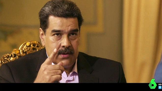 Nicolás Maduro, con Jordi Évole ('Salvados').