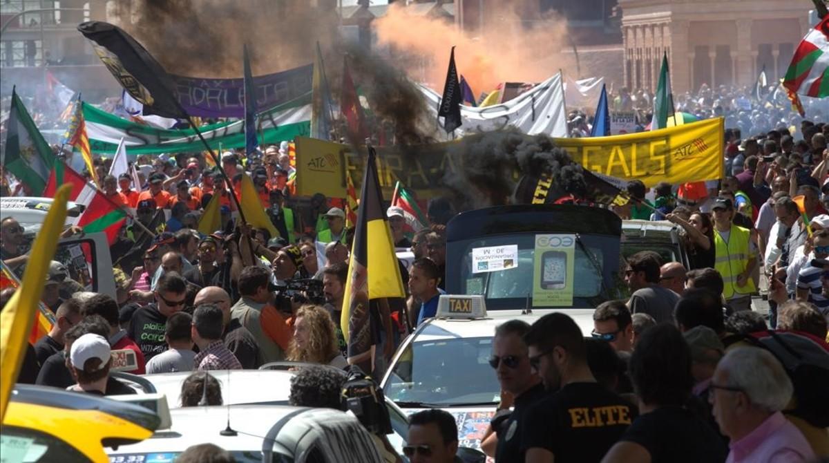 La manifestación a la Glorieta de Atocha.