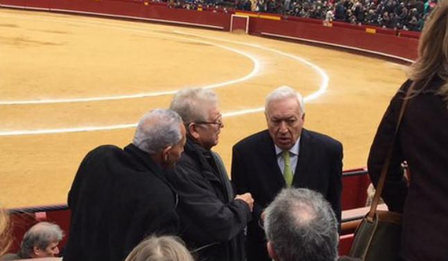 Margallo, en los toros.