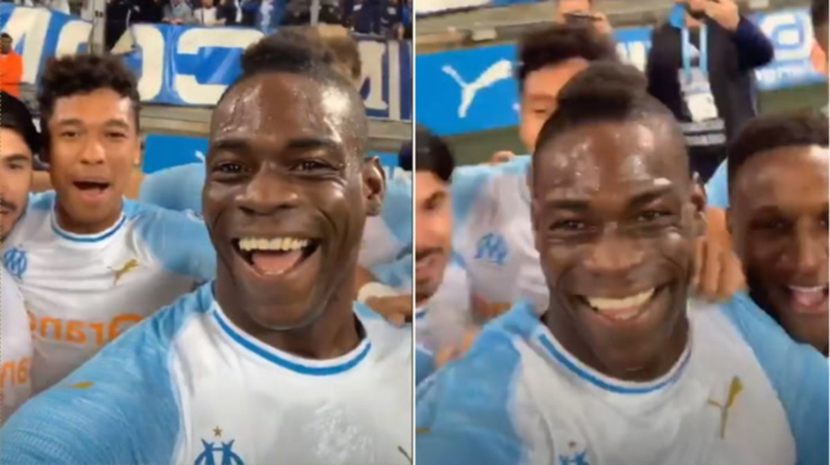 Mario Balotelli celebró un impresionante gol en vivo a través de Instagram