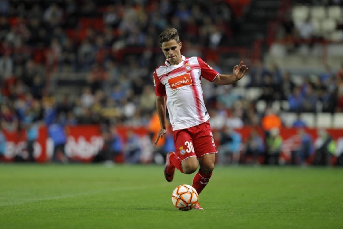 Melendo, en su debut con el Espanyol en Vitoria.