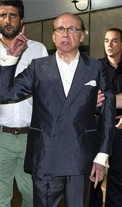 El empresario José María Ruiz Mateos en los juzgados de instrucción en el 2012 de Palma de Mallorca para prestar declaración en la causa que investigaba al empresario por una presunta estafa de 139 millones de euros en la compraventa de un hotel.