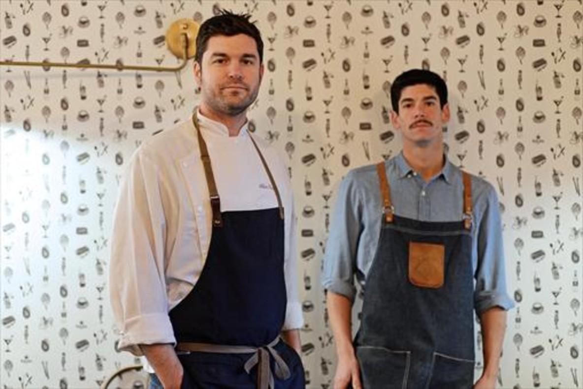 Los cocineros de La Mundana, Alain Guiard y Marc Martin.