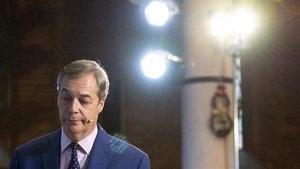 Nigel Farage, en un acto de campaña en Londres este martes.