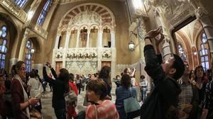 La Nit dels Museus, en el Recinte Modernista de Sant Pau, el año pasado.