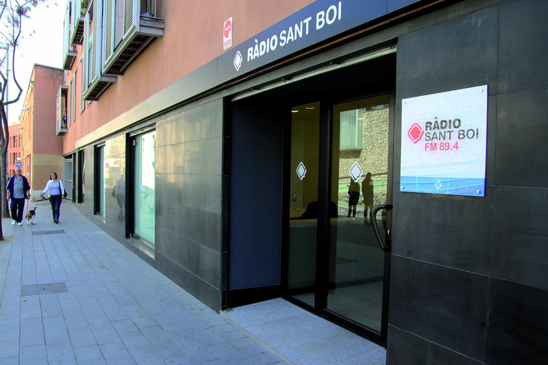 Nuevas instalaciones de Ràdio Sant Boi,ubicadas en la calle Jaume I