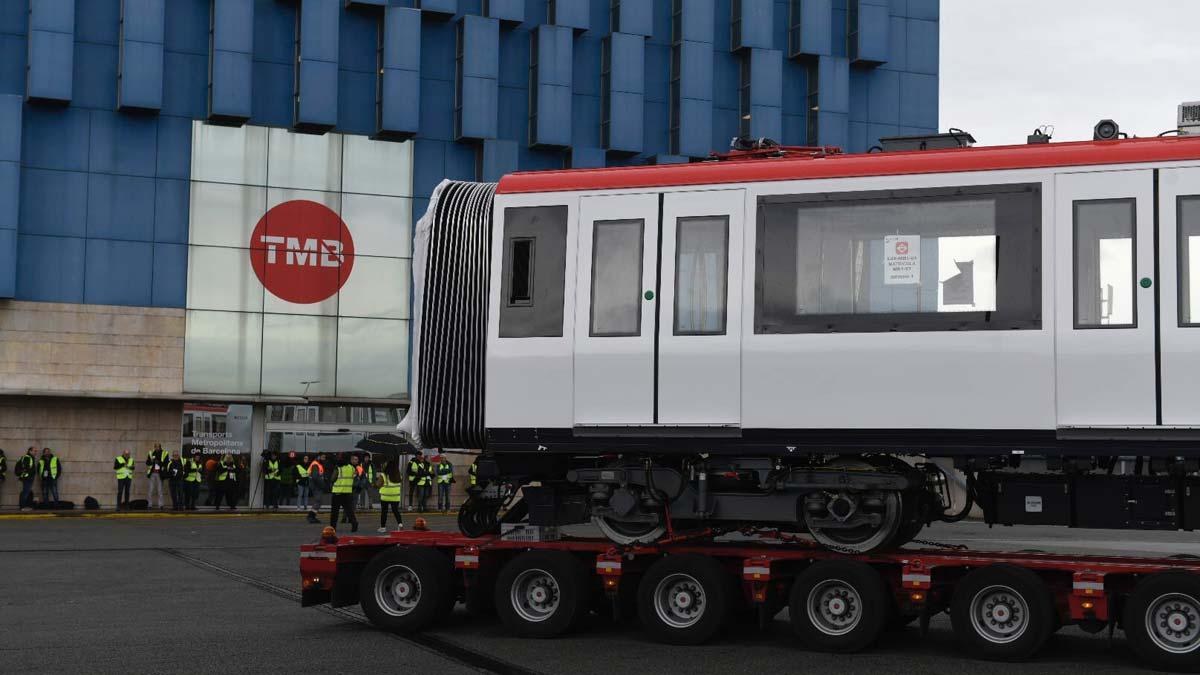 Nuevos vagones para el metro de Barcelona.