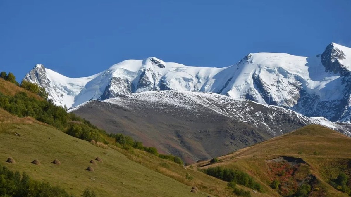 Paisaje montañoso de Georgia.
