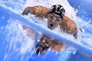 Phelps, en plena acción en Río