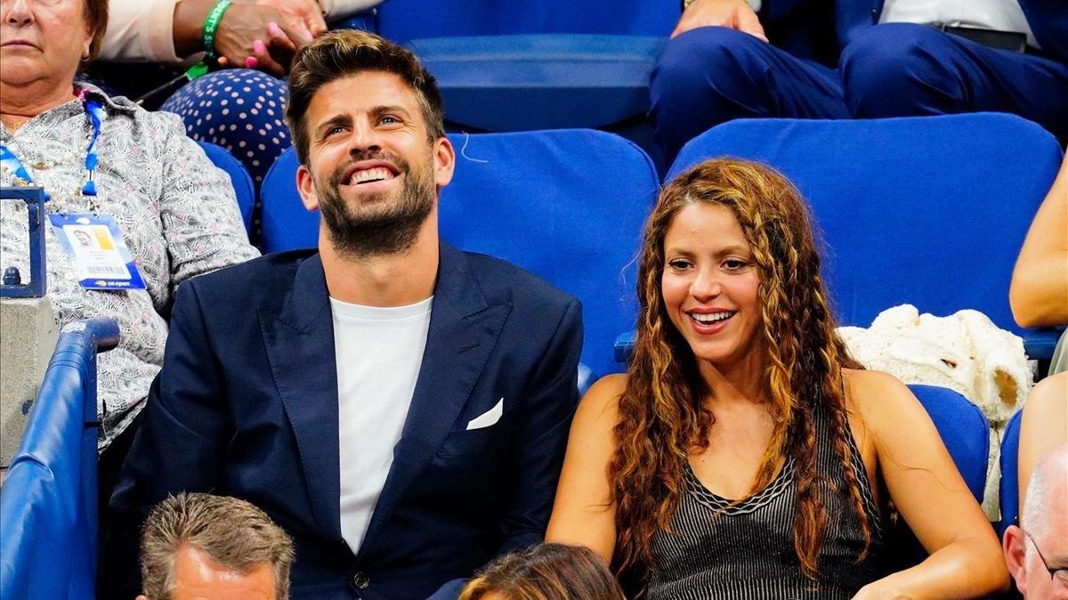 Piqué y Shakira, en Nueva York en el Abierto de Estados Unidos.