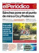 La portada de EL PERIÓDICO del 19 de septiembre del 2019.