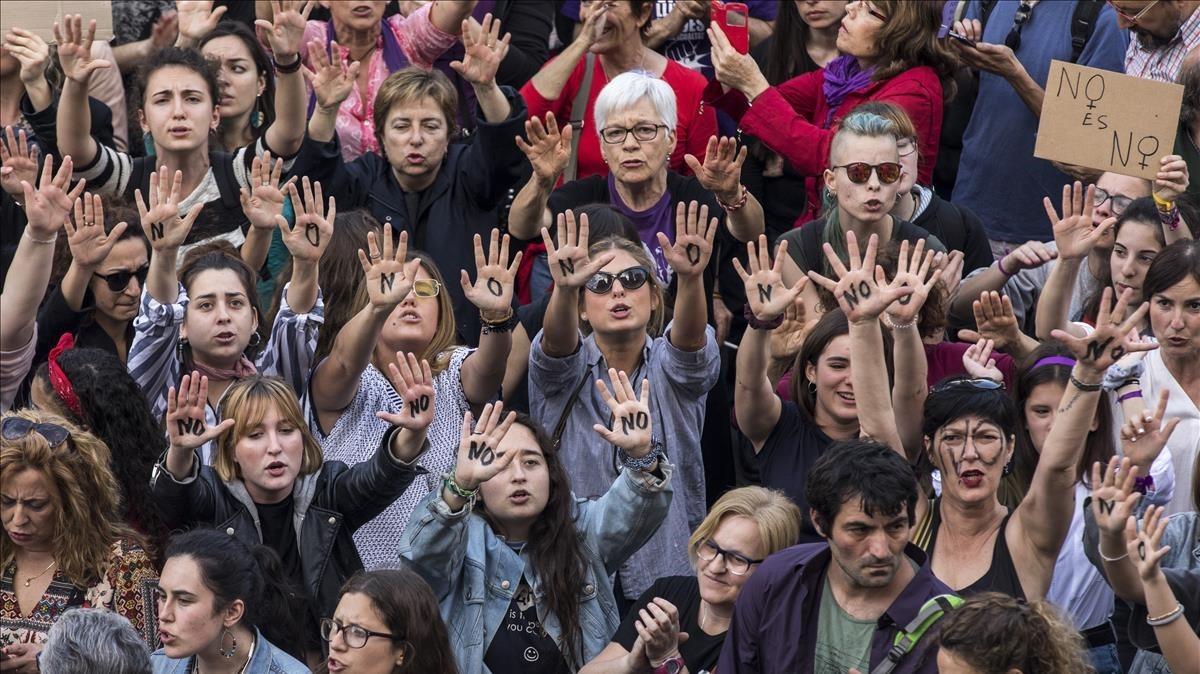 Protesta en Valencia contrala sentencia de La Manada.