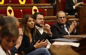 Quim Torra, en la sesión del Parlament de este miércoles.