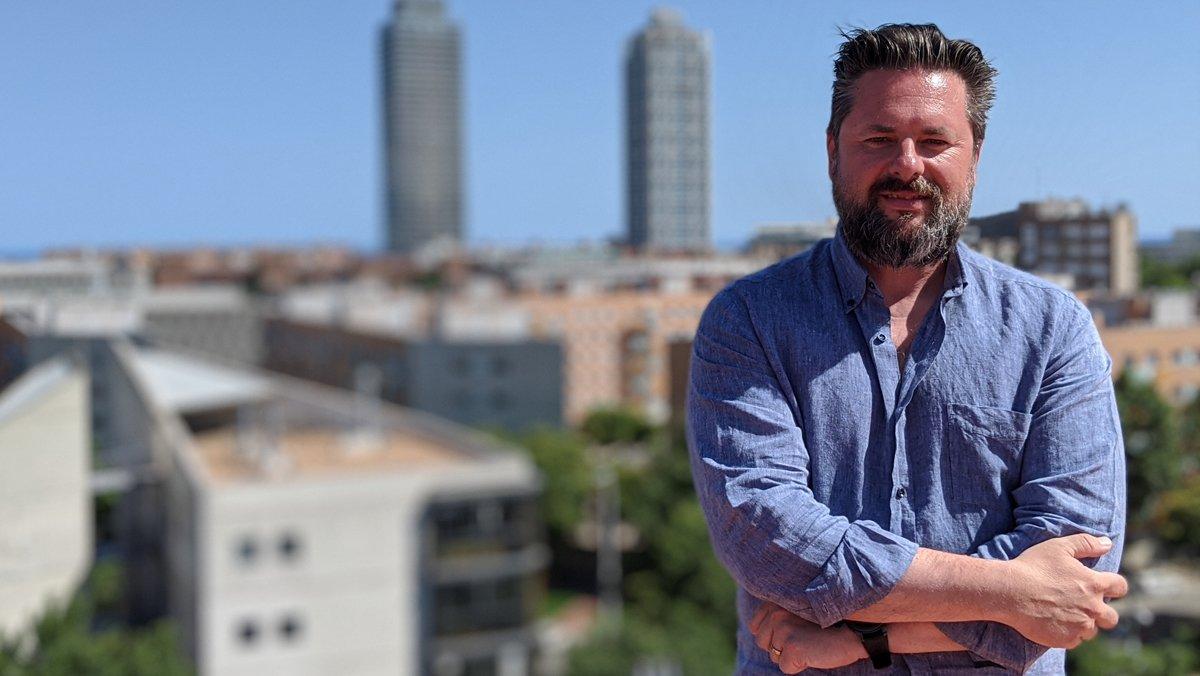 Raúl Bellmunt, CEO de Apps Implantadores, en la azotea de sus oficinas.