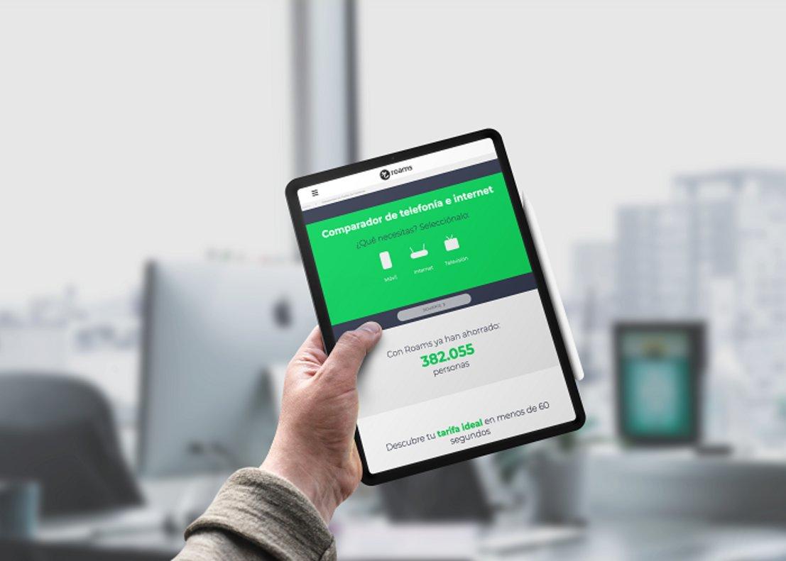 Imagen de Roams, la app que compara las tarifas móviles