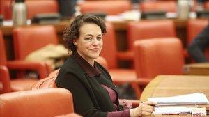 Magdalena Valerio,presidenta de la Comisión del Pacto de Toledo, en el Congreso de los Diputados.