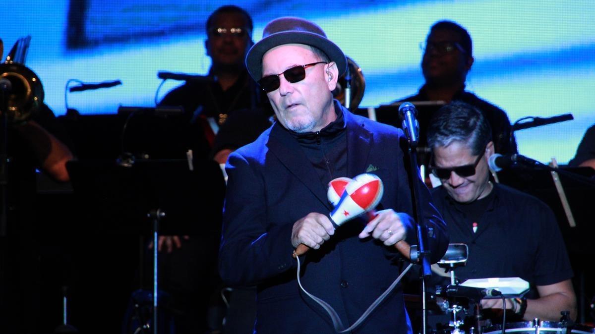 Rubén Blades, en un actuación del viernes por la noche en el festival de Porta Ferrada